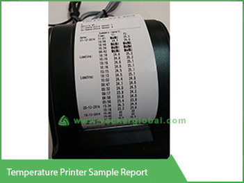 Temperature Printer Sample Report - Vacker UAE
