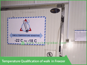 Temperature Qualification Walk-in Freezer - Vacker UAE