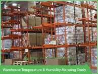 Warehouse temperature and humidity mapping study - Vacker UAE